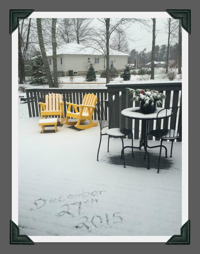 1st snow of season
