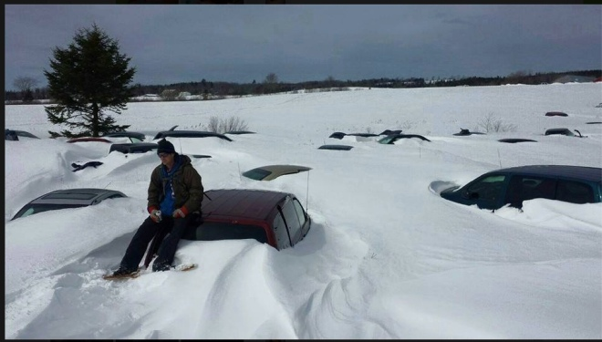 Halifax Airport Parking Lot March 2015