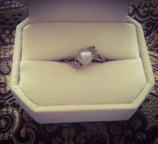 My pearl ring from West Edmonton Mall 1987